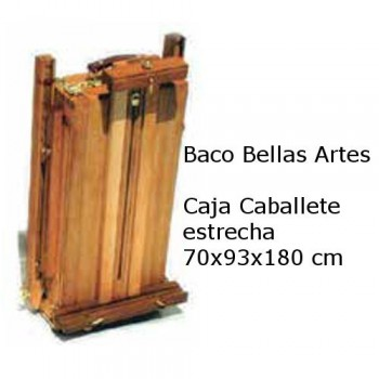 CAJA CABALLETE ARTIST ESTRECHA 70x93x180cm