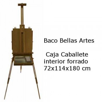 CAJA CABALLETE FORRADA ARTIST 72x114x180cm