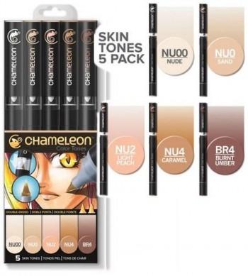 Set 5 rotuladores Chameleon - Skin Tones