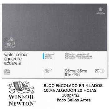 BLOC ACUA. 20H 300g/m2  W&N 100x100 ALGOD.