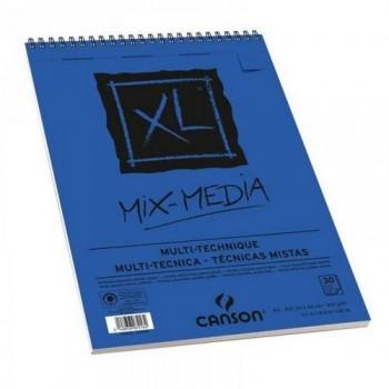 Album Espiral Microperforado 30H Canson XL Mix Media Texturado 300g
