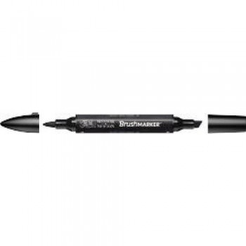 W&N BRUSH MARKER BLACK (XB)