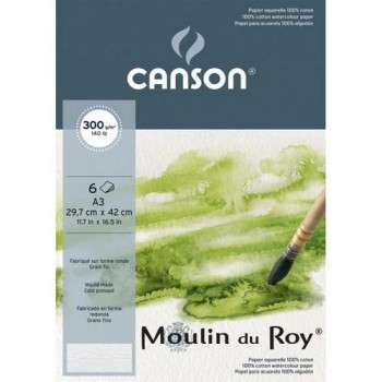 PACK 6H A3 Canson Moulin du Roy G. Fino 300g ACUA.