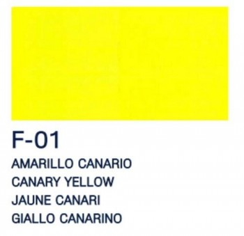 PAJARITA ACRI. FLUOR. F-01 AMARILLO CANARIO