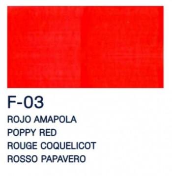 PAJARITA ACRI. FLUOR. 75ml F-03 ROJO AMAPOLA