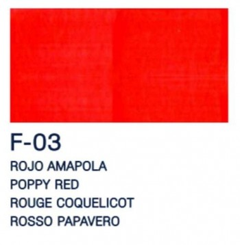 PAJARITA ACRI. FLUOR. F-03 ROJO AMAPOLA