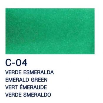 PAJARITA L, T. CRISTAL 50ml C-04 VERDE ESMERALDA