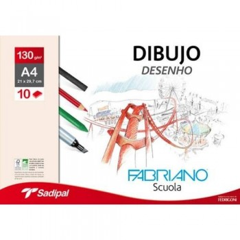 PACK 10H 130g DIBUJO G. NATURAL FABRIANO